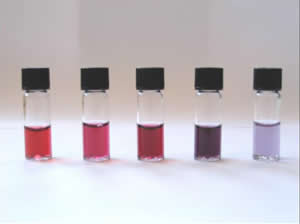 Nanoparticules or couleur
