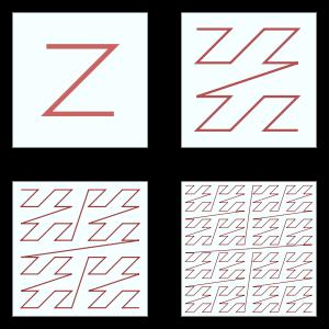 Courbe de lebesgue en Z