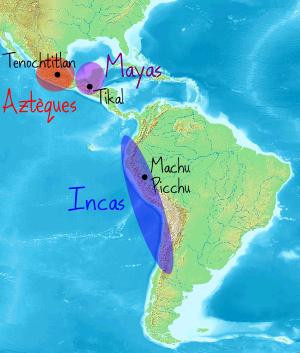 civilisations précolombiennes aztèques mayas incas