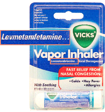 vicks vapor inhaler methamphetamine